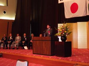 40周年記念式典 田中英之衆議院議員ご祝辞